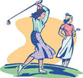two lady golfers